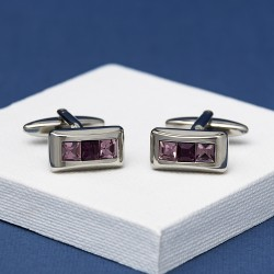 KARN Purple Crystal Cufflinks Andrew Worth