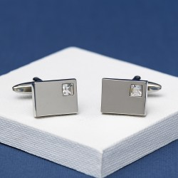 Andrew Worth Vianteo Crystal Clear Cufflinks