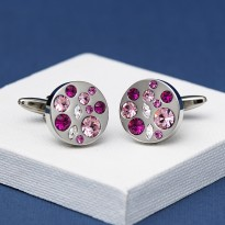 Allure Purple Crystal Cufflinks