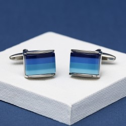 Andrew Worth Blue Pisco Cufflinks