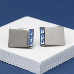 Leo Sapphire Crystal cufflinks