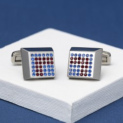 Precise Manoeuvres Crystal Cufflinks