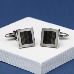 Lelant Carbon Stripe Cufflinks Andrew Worth