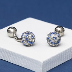 YALE Blue Crystal Cufflinks Andrew Worth
