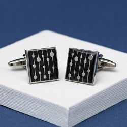 Vintage Black Cufflinks Andrew Worth