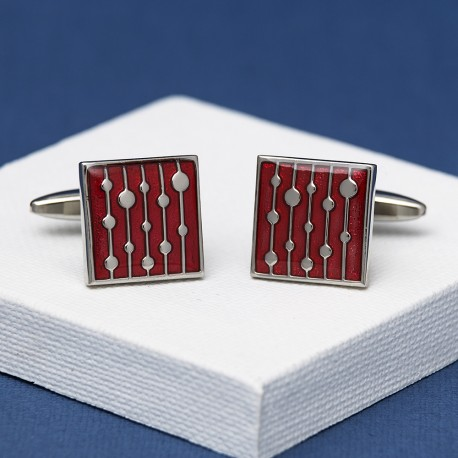 Vintage Red Cufflinks Andrew Worth