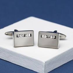 2 Crystal Dune cufflinks Andrew Worth