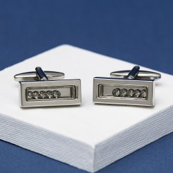 AERO Moving Crystal Cufflinks