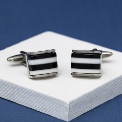 Black Pisco Humbug Cufflinks Andrew Worth