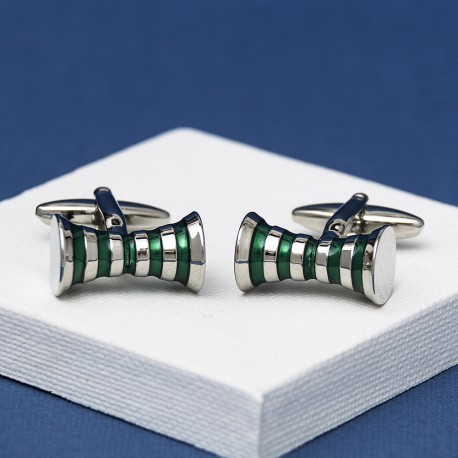 Crescendo Green Cufflinks