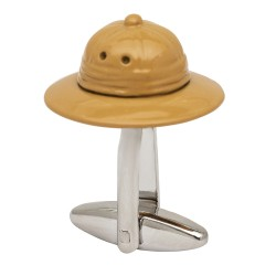 Jungle Explorers Hat Pith Helmet Cufflinks