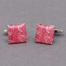 Pink Passion Rose Cufflinks