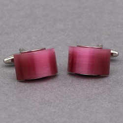Rose Curved Cufflinks