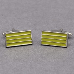 Citron Grid Cufflinks