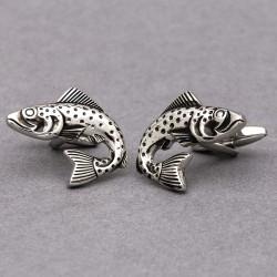 Salmon Fish Cufflinks