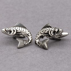 Salmon Fish Cufflinks