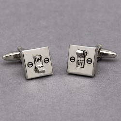 Electric Light Switch Cufflinks