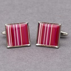 Pink Stripe Cufflinks