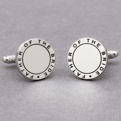 Eternal Father of the Bride Wedding Cufflinks