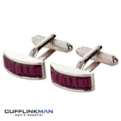 STROBE Purple Crystal Cufflinks