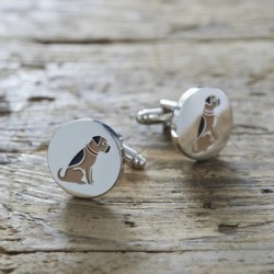 Border Terrier Dog Cufflinks