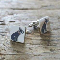 French Bulldog Cufflinks Golden
