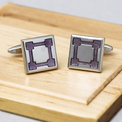 FORTRESS Purple Cufflinks