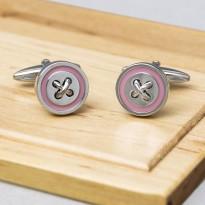 Pelo Pink Button Cufflinks