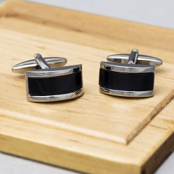 Whisper Black Cufflinks