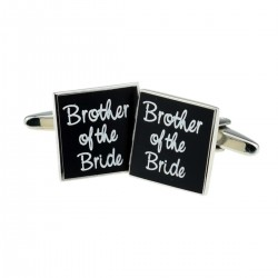 Square Black - Brother of the Bride Cufflinks