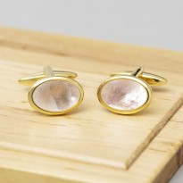 Mother of Pearl Oval Dome Cufflinks