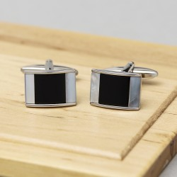 Allure Mother of Pearl Onyx Cufflinks