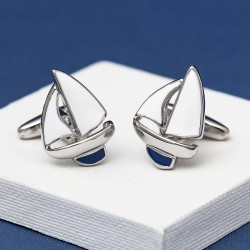 Blue Sailing Boats Cufflinks