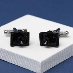 Black SLR Camera Cufflinks