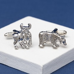 Bull and Bear Cufflinks Stocks and Shares Cufflinks