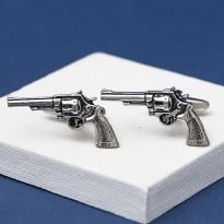 Pewter Pistol Cufflinks