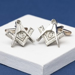Pewter Masonic 'G' Cufflinks