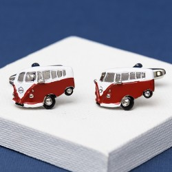 Red Campervan Cufflinks