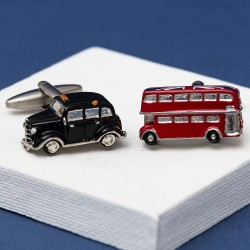 London Taxi and London Bus Cufflinks