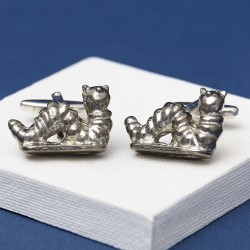 Pewter Caterpillar Cufflinks