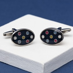 Multi Colour Spot Cufflinks