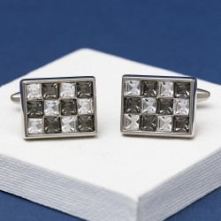 AC Grey Crystal Cufflinks