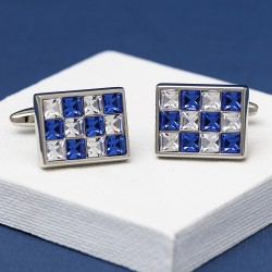 AC Blue Crystal Cufflinks