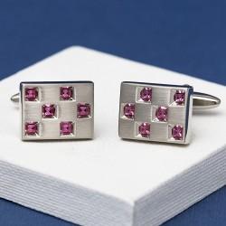 ANDELL Amethyst Crystal Cufflinks
