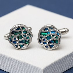 Celtic Blue Paua Shell Cufflinks