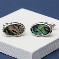 Oval Paua Shell cufflinks
