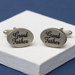 Grand Father Cufflinks Oval Italics