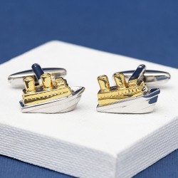 Ship Cufflinks Gold
