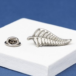 New Zealand Fern Lapel Pin Badge