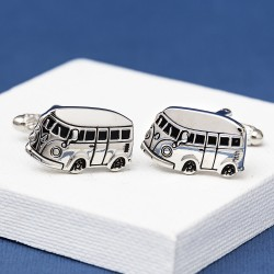 Campervan Cufflinks Brushed